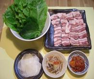 サムギョプサル(豚バラ+包み野菜)
